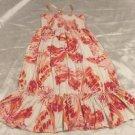 Gap Kids Girls Dress Size XL 12 Pink Orange White Sundress Butterflies Cotton