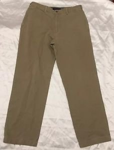 Tommy HilFiger Size 38x34 Men's Tan Khaki Casual Pants Flat Front