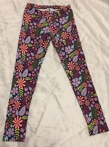 NEW Cat & Jack Floral Leggings Girls Sz Large 10/12 Cute Spring Multi-color