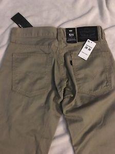 LEVI'S 511 Men's Beige Sand Khaki Pants Jeans 29x30 Slim Fit $68