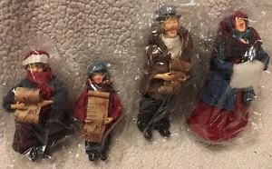 Lillian Vernon Vintage Set of 4 Christmas Carolers NEW IN BOX Victorian Dickens