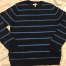 NEW SONOMA Life + Style Men's Blue Striped Sweater Sz XL Soft, Nice!