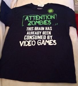 NEW Video Game Graphic T-shirt Boys Size 18 Glows In The Dark! Free Shipping