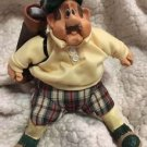"Golfer ""Stew Mulligan"" #2904 Cloth & Resin 'Russ Berrie' Rare Collectible Cute!"