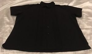 Van Heusen Men's Black Short Sleeve Button Front Shirt Sz XXL 18-18.5