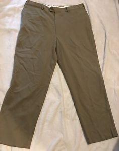 Jos A Bank Men's 100% Wool Dark Beige Dress Pants Slacks Sz 38 R Free Shipping