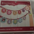 AMERICAN GIRL Garland Letters & Frames Craft Kit Kids Room Decor Free Shipping