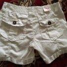 SO Brand Poplin Midi Shorts Juniors Size 1 White Msrp $36! Cute!