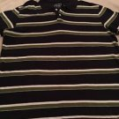 New ARIZONA Mens Blue Green White Striped Short Sleeve Polo Sz XXL Free Shipping