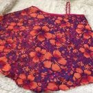 JUSTICE Girls Asymmetrical Top Size 12 Orange & Purple W/free Loom Bracelet
