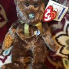 Ty Beanie Baby FIFA World Cup 2002 CHAMPION Rare Sweden Bear Free Shipping
