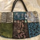 Christiana Multi-Color Beaded Handbag, Animal Print Exotic Unique! Made In India