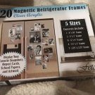 20 Fetco Magnetic Photo Picture Frames and Refrigerator Magnets NIB 5 Sizes
