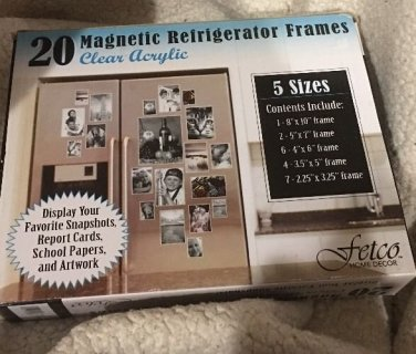 20 fetco magnetic photo picture frames and refrigerator magnets nib