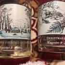 Currier & Ives Arby's Christmas Glasses Set Of 2 Vintage Colllectibles Americana