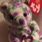 TY BEANIE BABIES 'CORSAGE' BEAR Retired 2003 Free Shipping