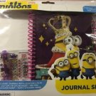 Minions Journal Set, Gel Pen, Stickers, Art, Gems Creative Writing Free Shipping