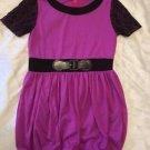 """Cherry Stix"" Brand Short Sleeve Casual Bubble Dress Sz Large 14/16 Purple Cute!"