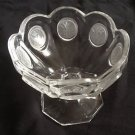 Fostoria Coin Depression Glass Jelly/Dessert Pedestal Bowl Compote Vintage Clear