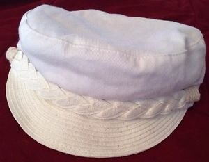 New JESSICA SIMPSON Newsboy White Hat, Cap, Spring Summer Cute! Free Shipping