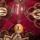Pool Ball No. 9 Wine Drinking Glass Rare Collectible Man Cave Barware Last One!