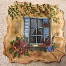Tabletops Unlimited Rue De Paris Salad Plate Blue Shutter Window Hand Painted