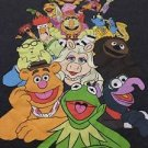 Disney Muppets Mens XL Gray Graphic T-shirt Kermit Animal Fozzy Miss Piggy