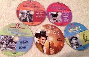 5 DVD TV Episodes/Movie Lot John Wayne Lone Ranger Beverly Hillbillies Dragnet