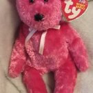 TY Beanie Babies 10 year SHERBET Raspberry pink bear Tag Error 2002/2003 Retired