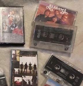 13 Vintage Cassette Tapes Elvis Alabama Sawyer Brown Hootie & The Blowfish Lot