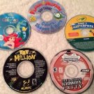 Kids 5 PC Games & Creativity Lot SpongeBob Ariel Crayola Free Shipping