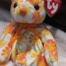 Ty ORIGINAL BEANIE BABIES 'SHASTA' 2003 SPRING FLOWER BEAR Free Shipping