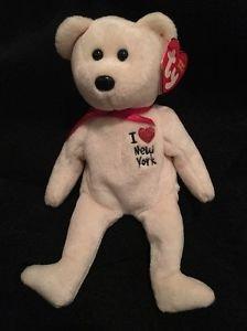 TY Beanie Babies *I LOVE NY Bear RETIRED with TAG * New York City Free Shipping