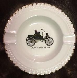 Harker Pottery Ashtray First Packard Automobile antique car vintage mid century
