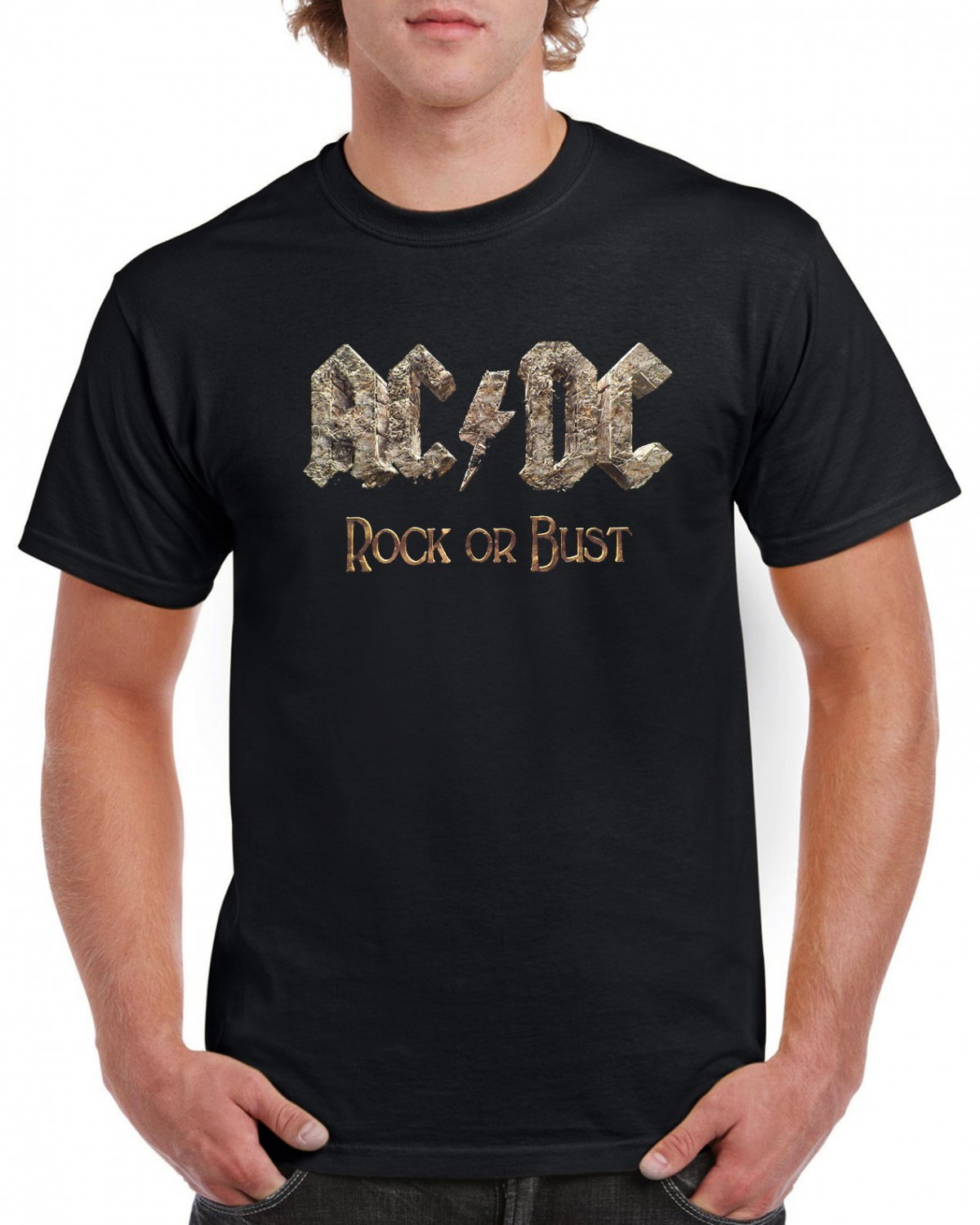 Rock Or Bust ACDC T-shirt AC/DC Tshirt  Hard Rock Top Tee