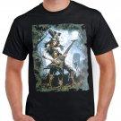 Skeleton Cemetery Guitar T-shirt Heavy Metal Rock Tshirt Cool Festival Top Tee