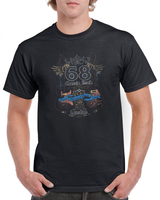 Classic Rock 68 London T-shirt Absolut Rock Love Tshirt Guitars Cool Top Tee