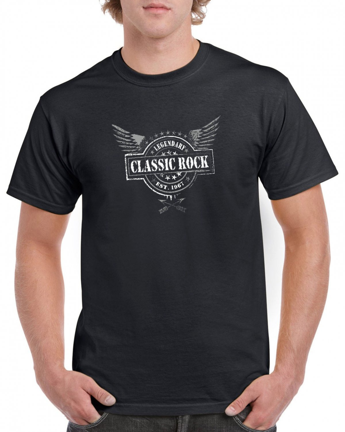 Classic Rock Legendary T-shirt Cool Hard Rock Tshirt Music Band Top Tee