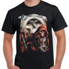 Gothik Sickle Skulls T-shirt Heavy Metal Rock Tshirt Festival Top Tee