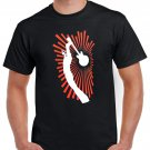Hard Rock Guitar T-shirt Heavy Metal Rock Cool Tshirt Festival Top Tee