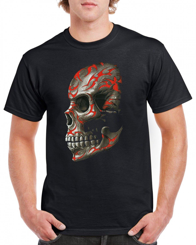 Heavy Metal Skull Skeleton T-shirt Gothic Cool Tshirt Music Festival Top Tee