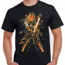 Skeleton Mummy Guitar T-shirt Heavy Metal Rock Tshirt Cool Festival Top Tee