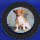 NEW - Jack Russell Decoupage Plate Limited Edition