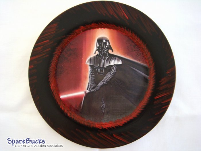 NEW Star Wars DARTH VADER Collectors Decoupage Plate LE