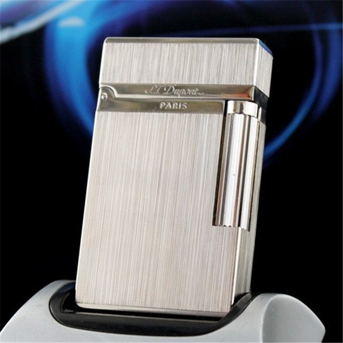 100% Hot Metal Dupont Cigarette Lighters Gas Smoking Torch Cigar Lighter Gold Grey Silver Wind