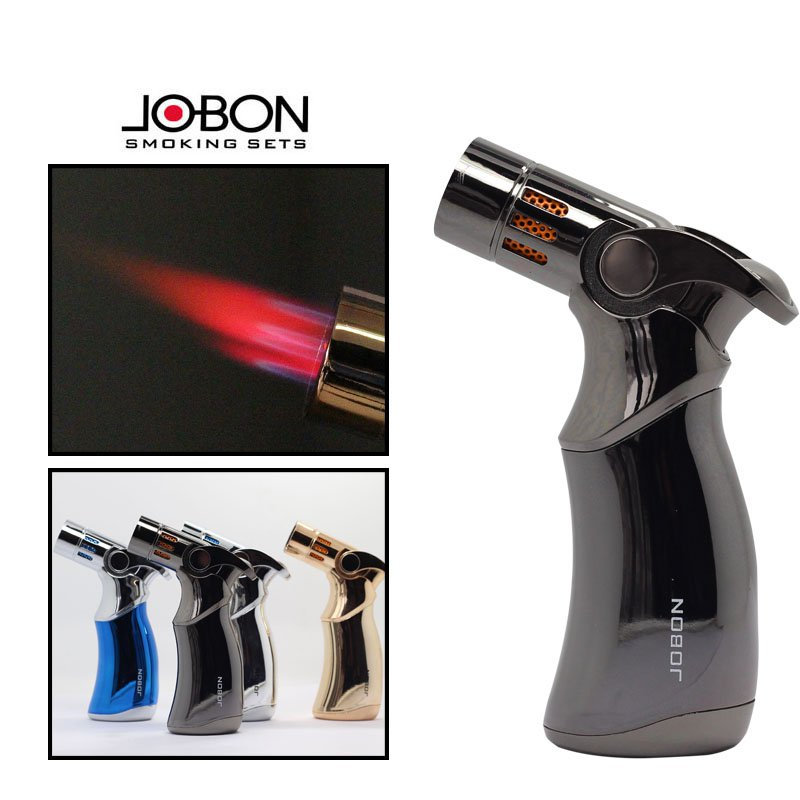 JOBON Brand 4 Jet Turbo Torch full metal butane gas lighters,Cigar cigarette lighter,can cigare