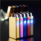 Design LED Smoke Cigarette Lighter Metal Plating Cross Double ARC Lighter 21 Style Fashion Cho