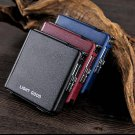 Automatic pocket cigarette case lighter holding 20 cigarettes slim windproof gas lighters with