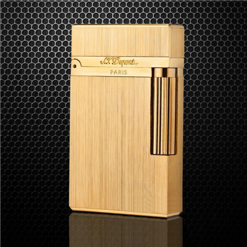 S.T.Dupont 100% Fashion Gold Silver Black Cigarette Lighters Windproof Lighter MetalGas Smoking