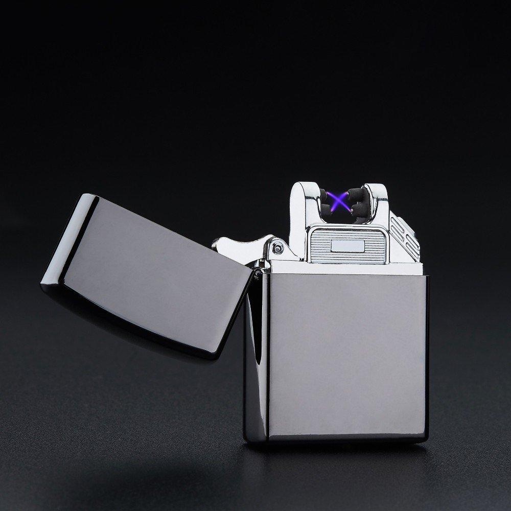 Arc lighter Double Pulsed Arc Slim Windproof cigarette cigar Lighter Personality Electronics U